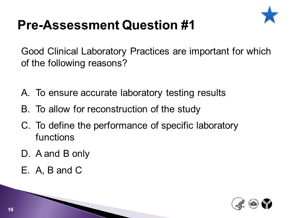 Pre-Assessment Question #1
