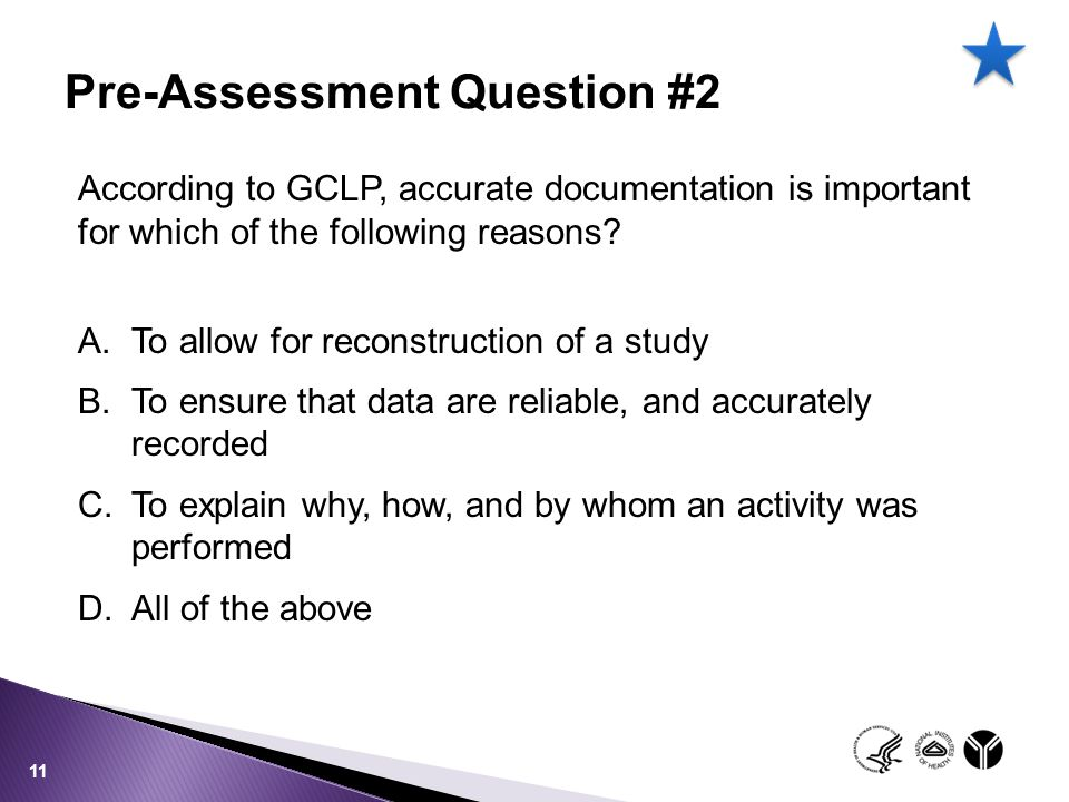 Pre-Assessment Question #2