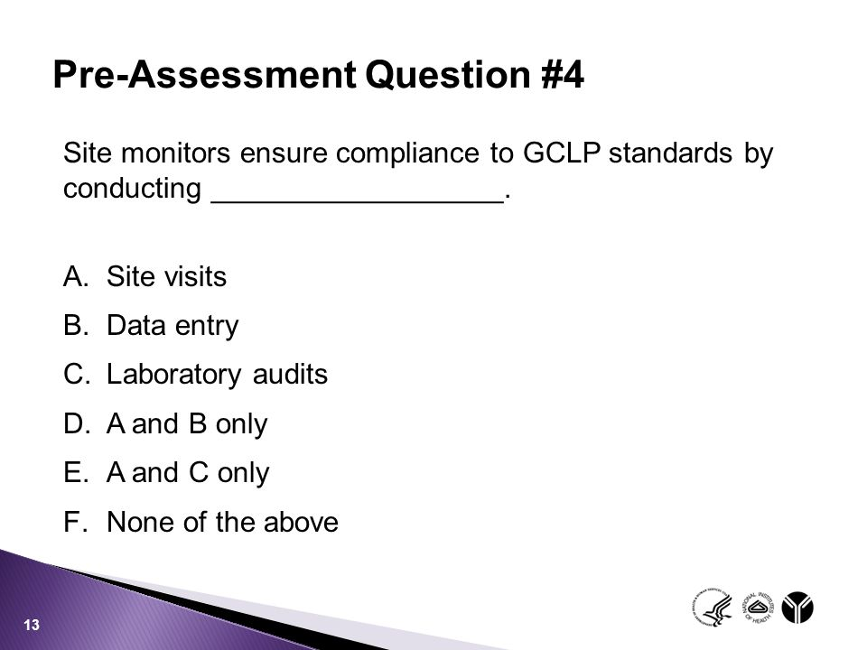 Pre-Assessment Question #4