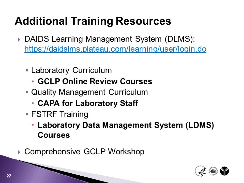 Additional Training Resources