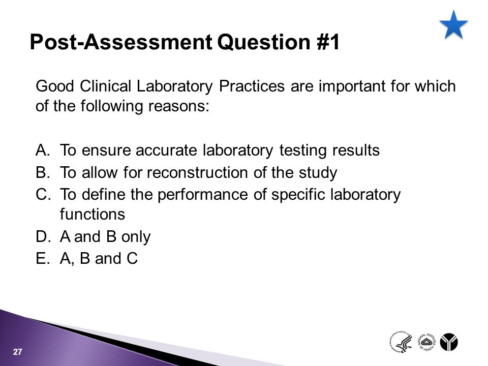 Post-Assessment Question #1