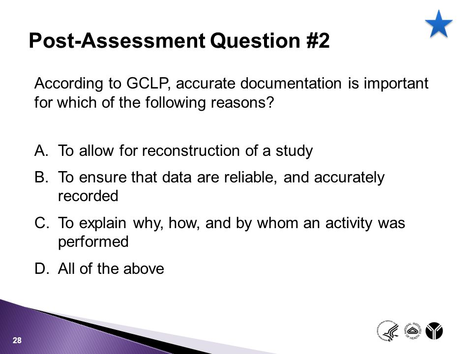 Post-Assessment Question #2