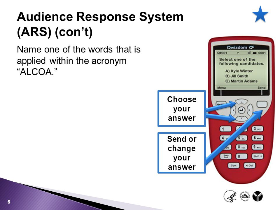 Audience Response System (ARS) (con't)