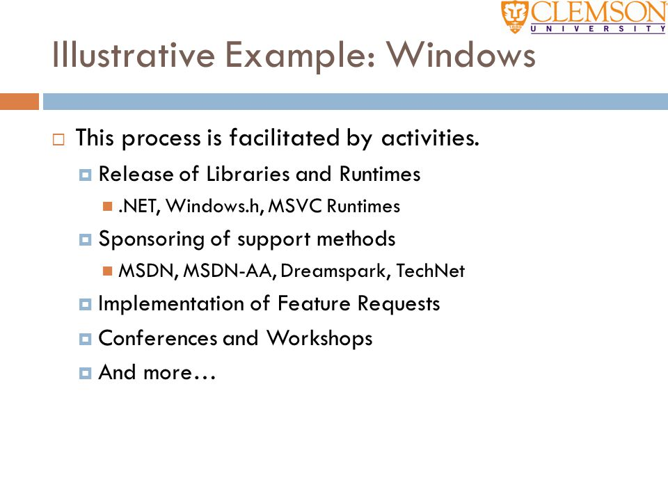 Illustrative Example: Windows