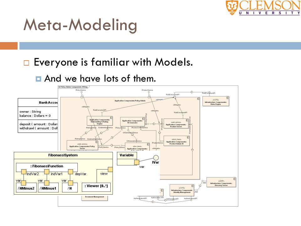 Meta-Modeling Everyone is familiar with Models.
