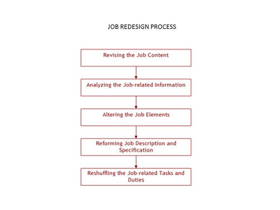 JOB REDESIGN PROCESS