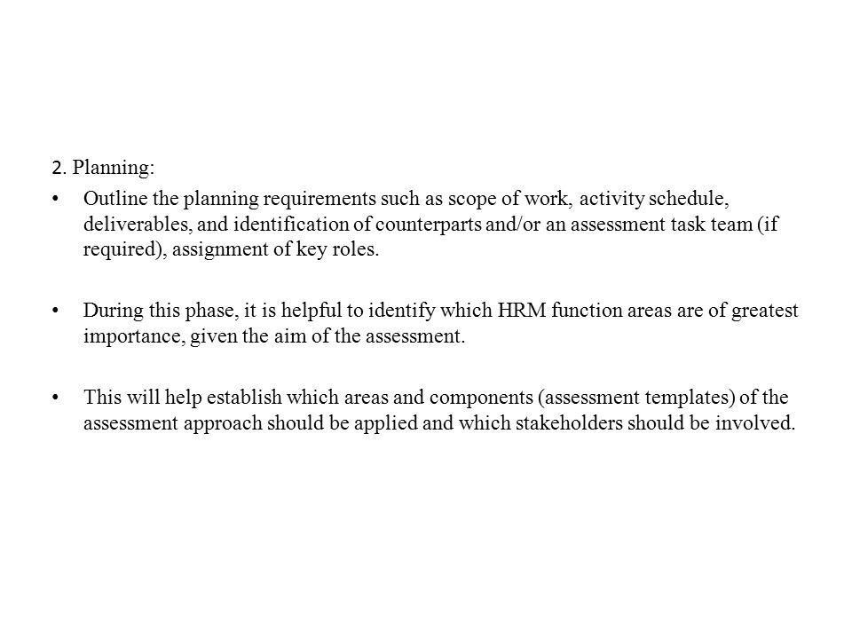 2. Planning: