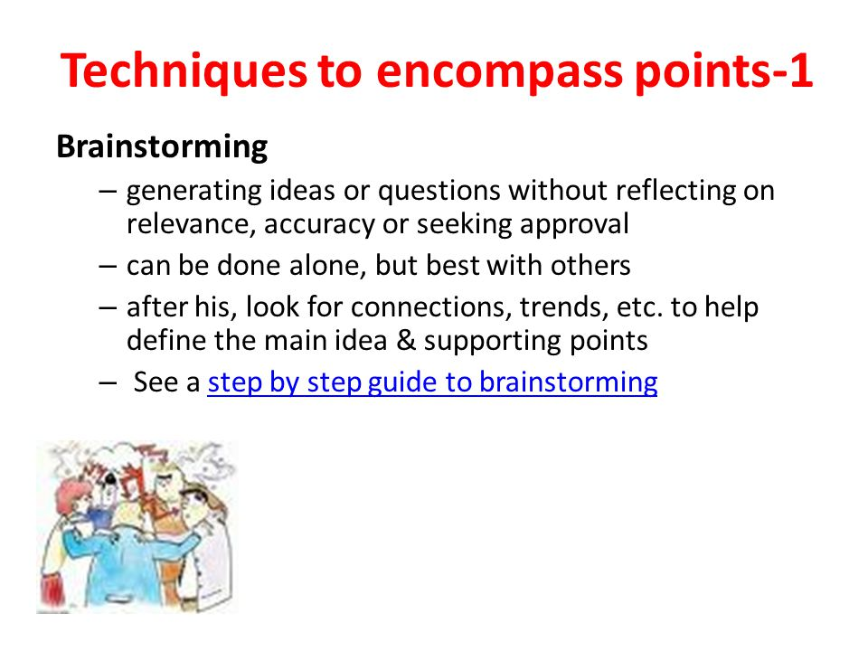 Techniques to encompass points-1