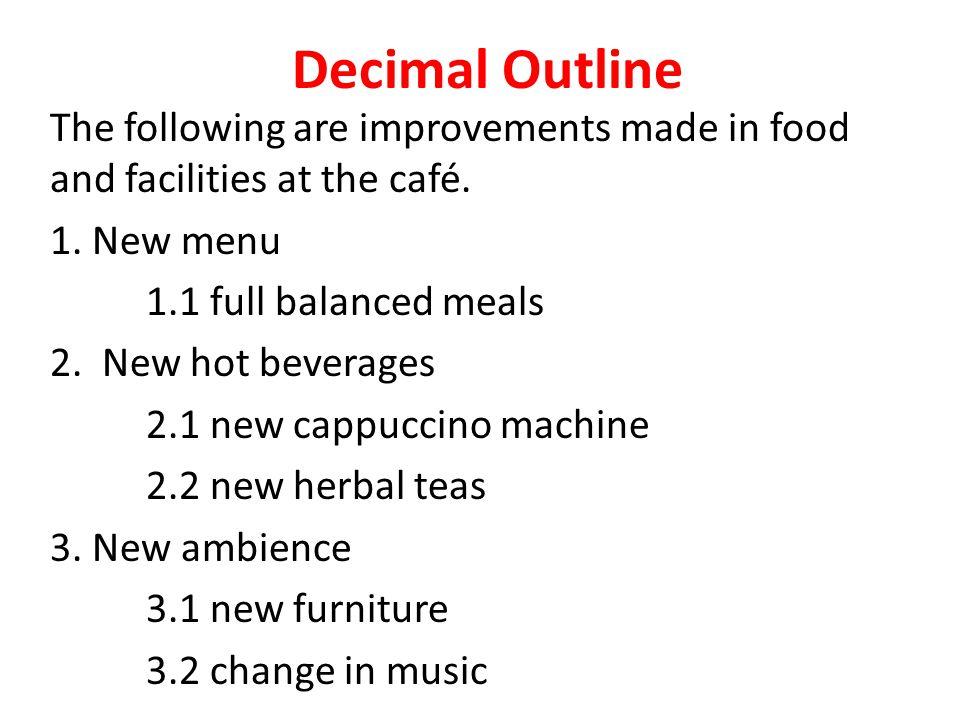 Decimal Outline