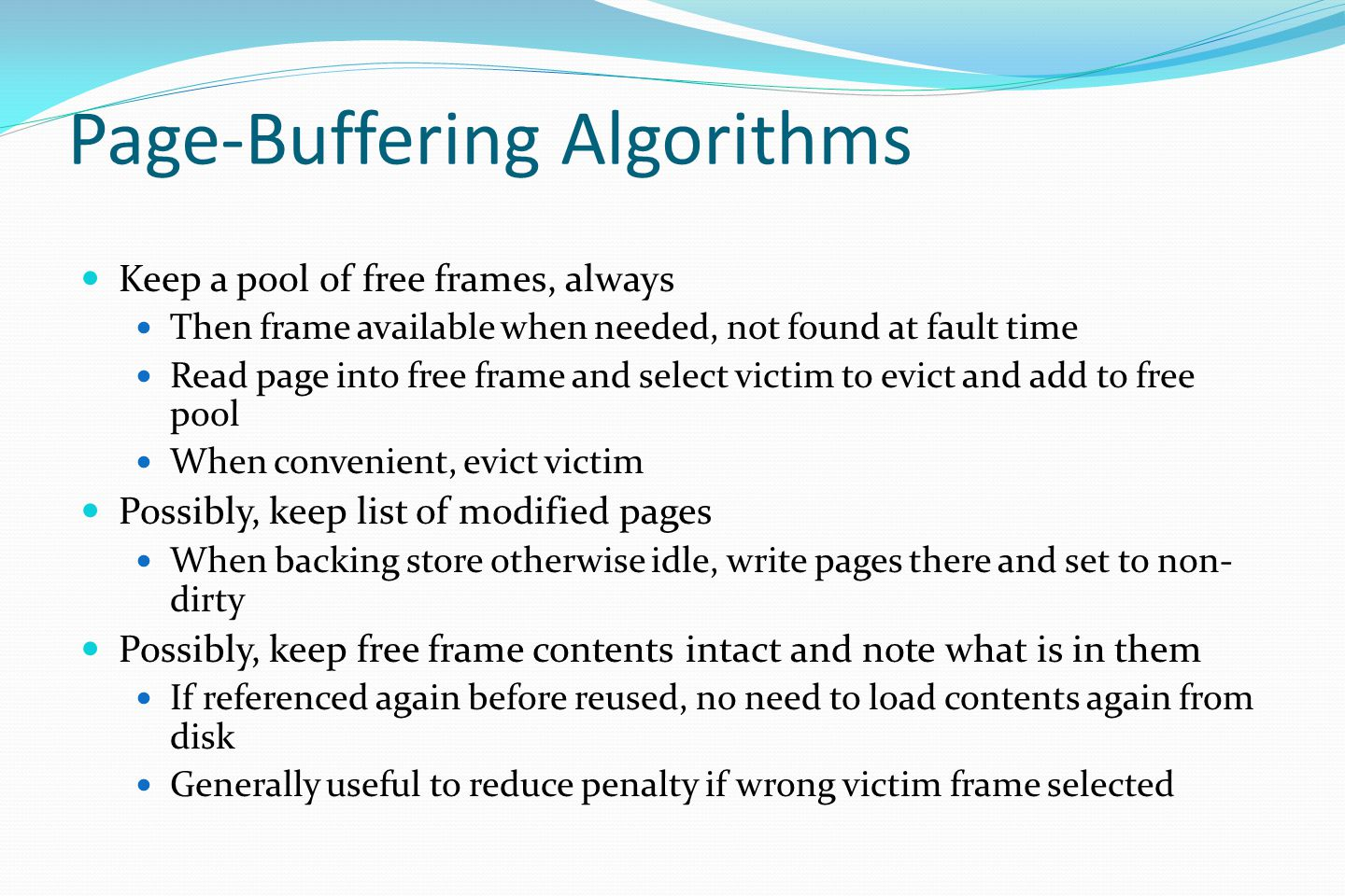 Page-Buffering Algorithms