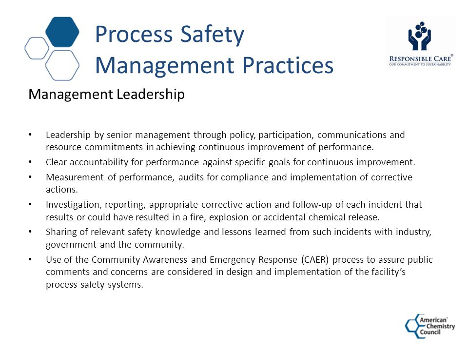 Process Safety Management Practices