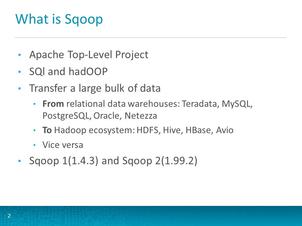 What is Sqoop Apache Top-Level Project SQl and hadOOP