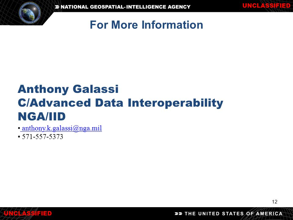C/Advanced Data Interoperability NGA/IID
