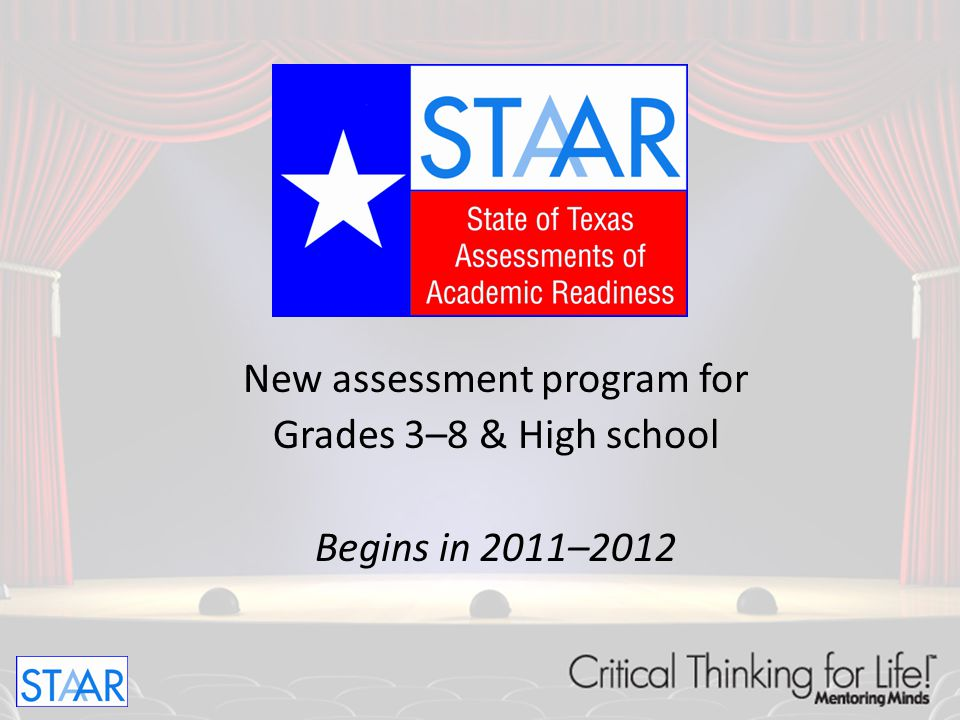 New assessment program for