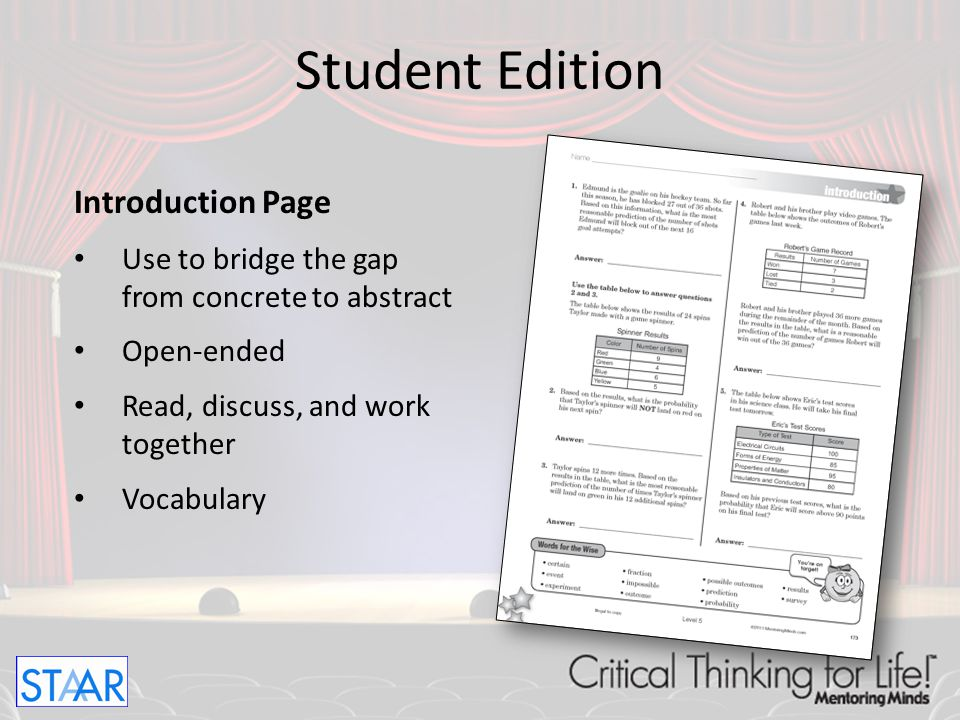 Student Edition Introduction Page