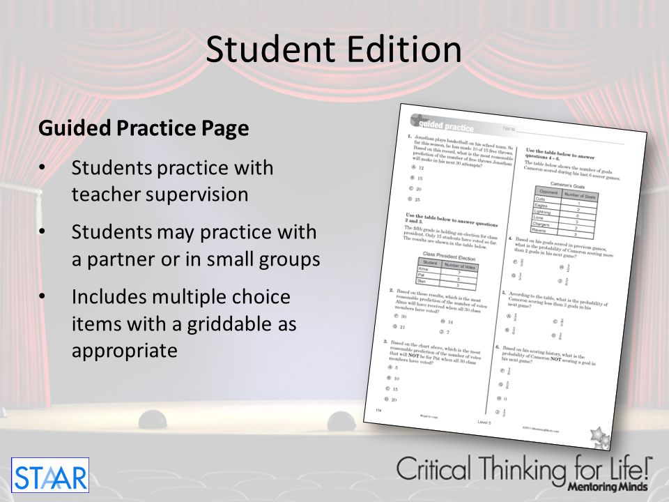 Student Edition Guided Practice Page