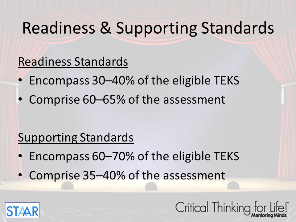 Readiness & Supporting Standards
