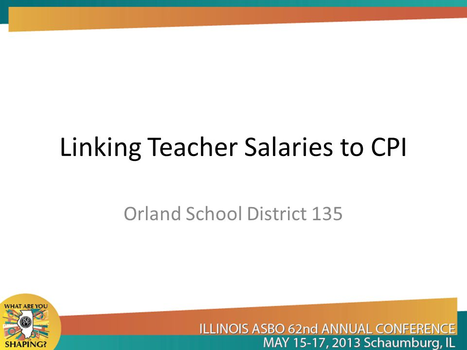 Linking Teacher Salaries to CPI