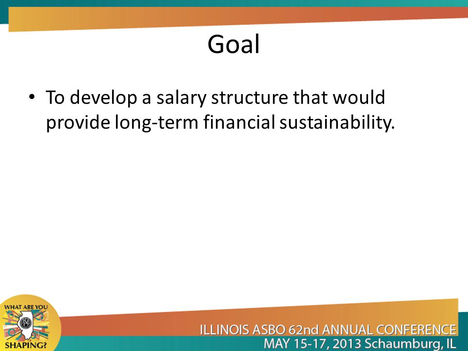 Goal To develop a salary structure that would provide long-term financial sustainability.