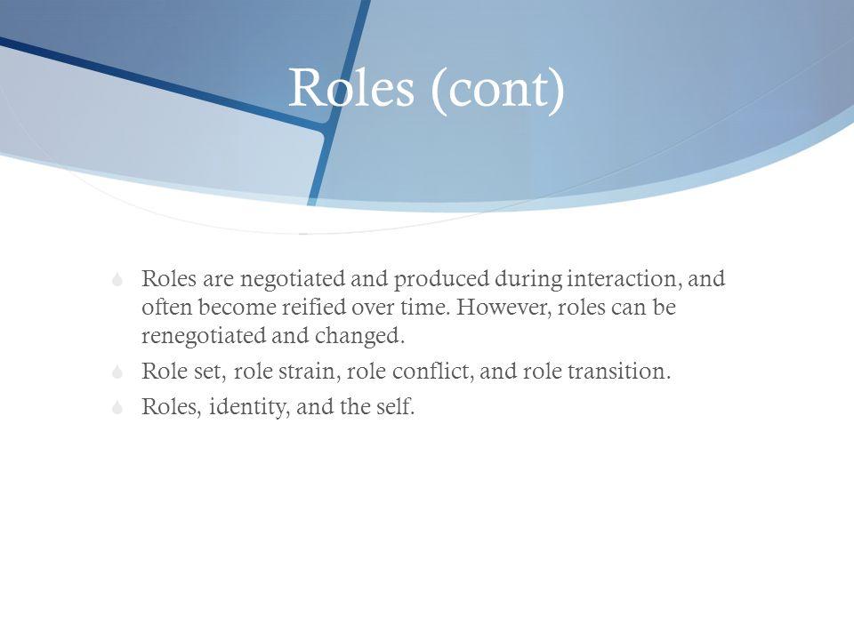 Roles (cont)