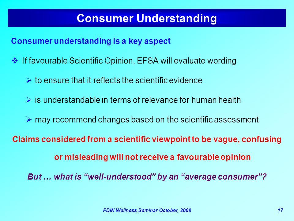 Consumer Understanding