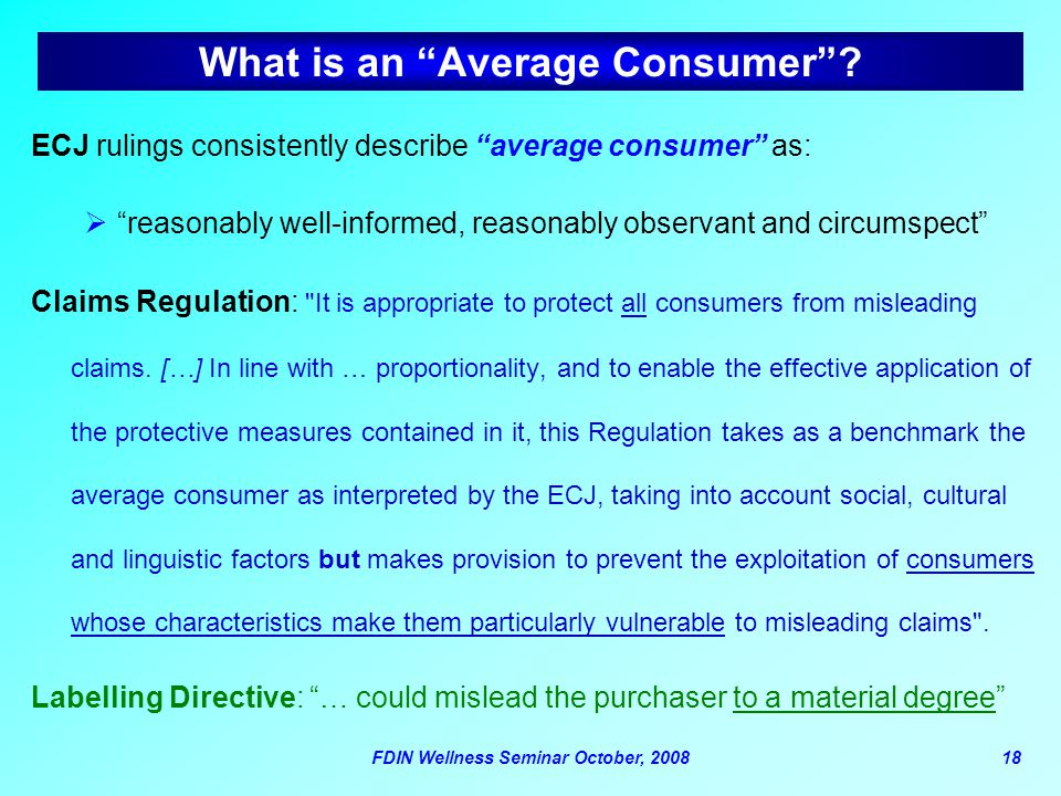 What is an Average Consumer