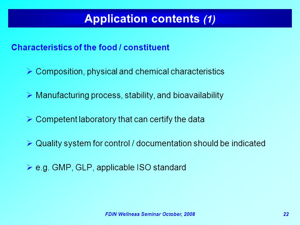 Application contents (1)