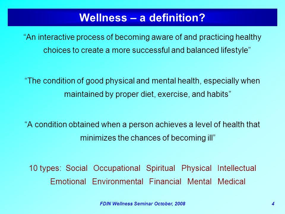 Wellness – a definition