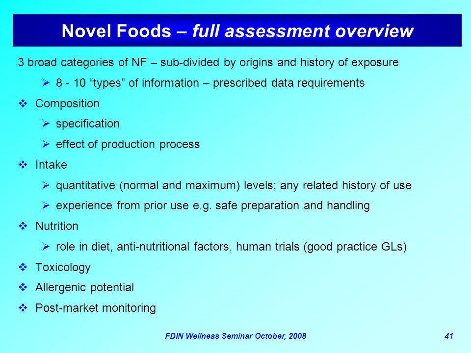 Novel Foods – full assessment overview