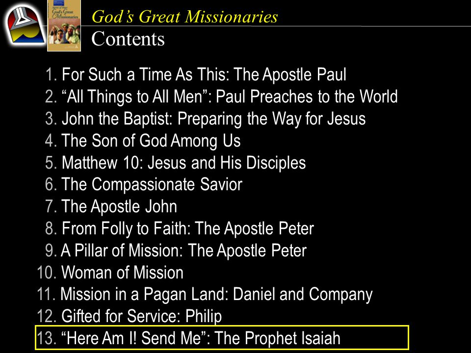 Contents God's Great Missionaries