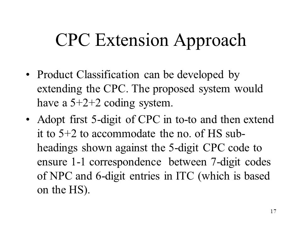 CPC Extension Approach