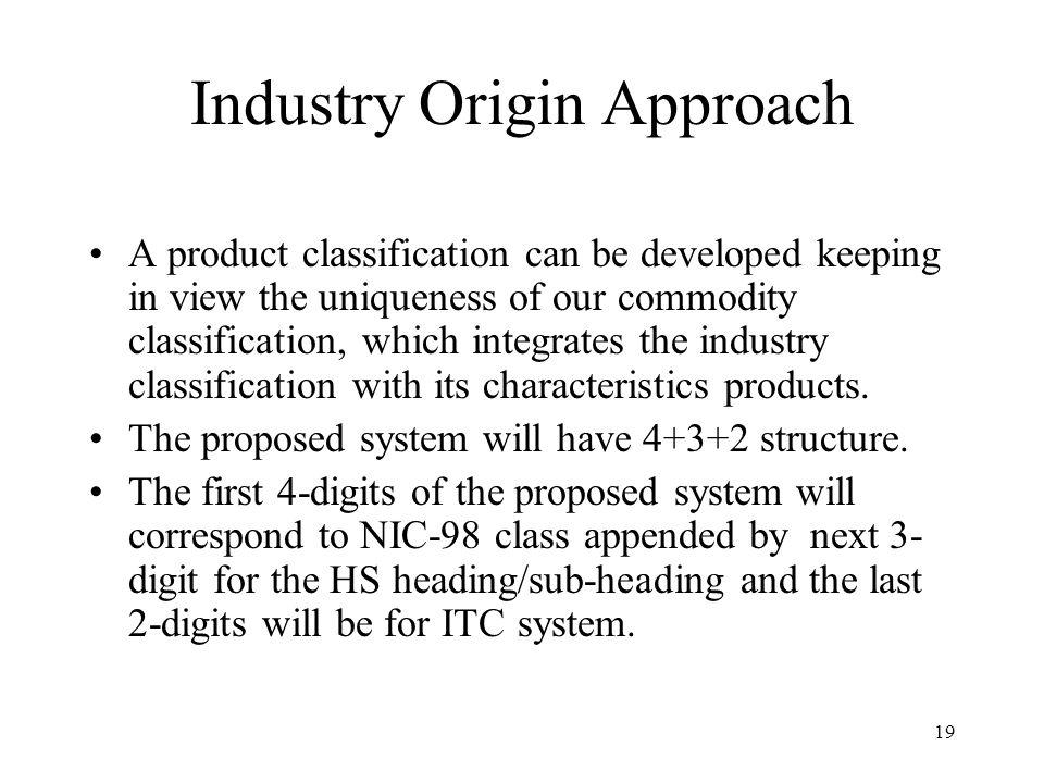 Industry Origin Approach