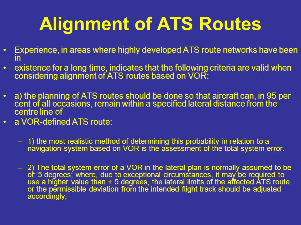 Alignment of ATS Routes