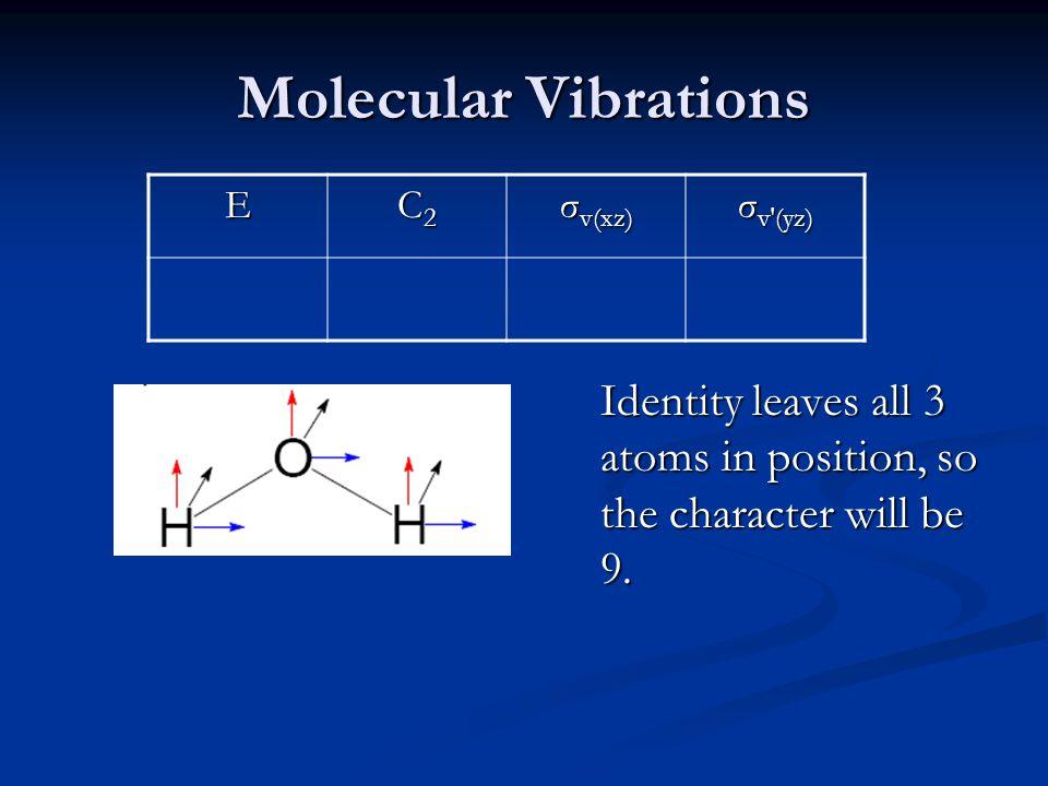 Molecular Vibrations E C2 σv(xz) σv′(yz)