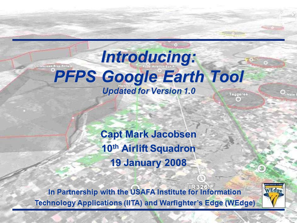 Introducing: PFPS Google Earth Tool Updated for Version 1.0