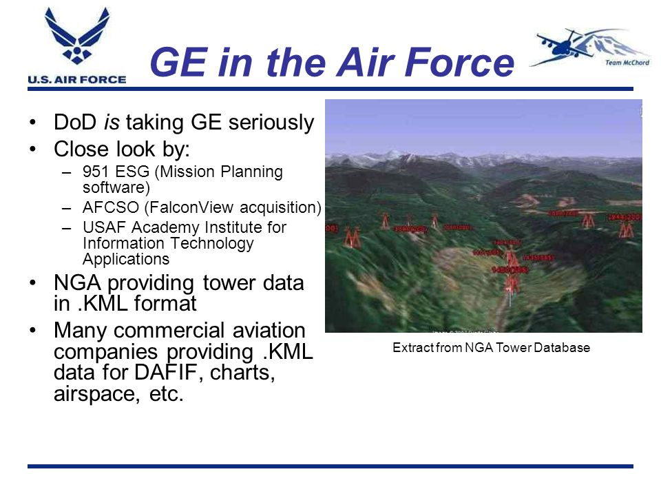 GE in the Air Force DoD is taking GE seriously Close look by: