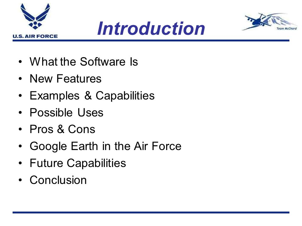 Introduction What the Software Is New Features Examples & Capabilities
