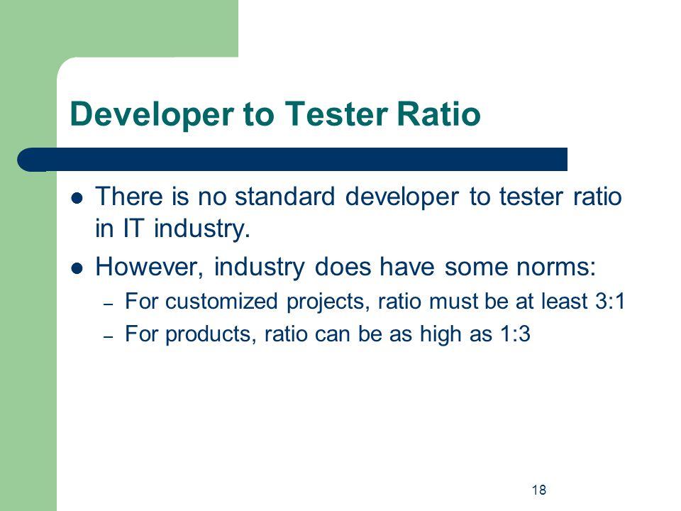 Developer to Tester Ratio
