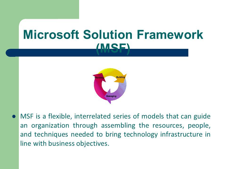 Microsoft Solution Framework (MSF)