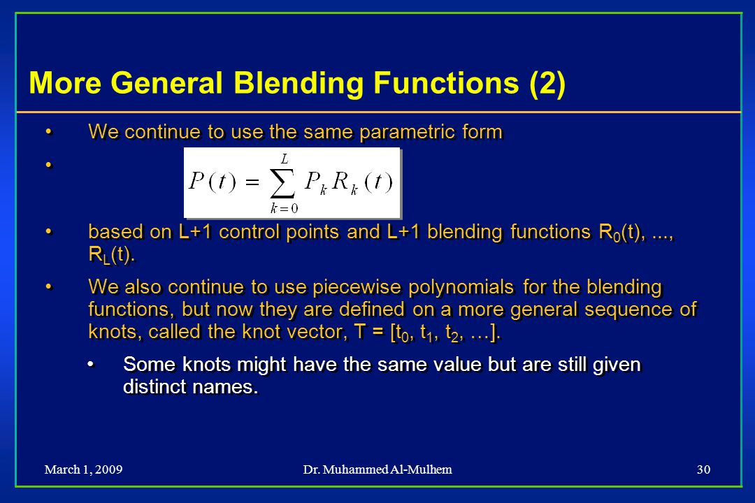 More General Blending Functions (2)