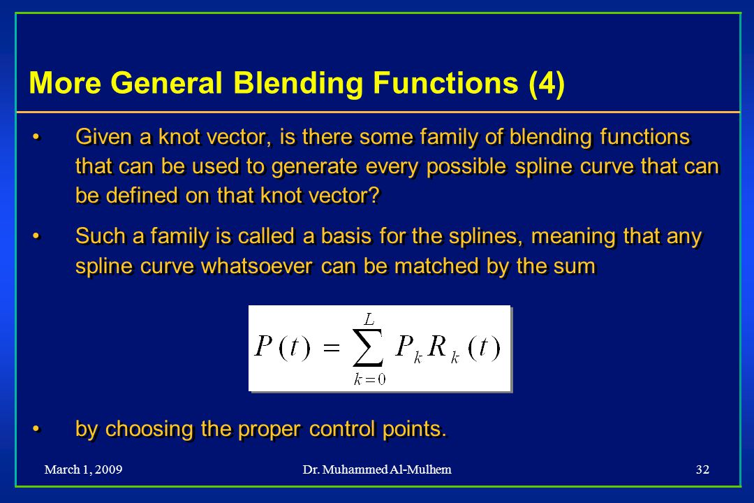 More General Blending Functions (4)