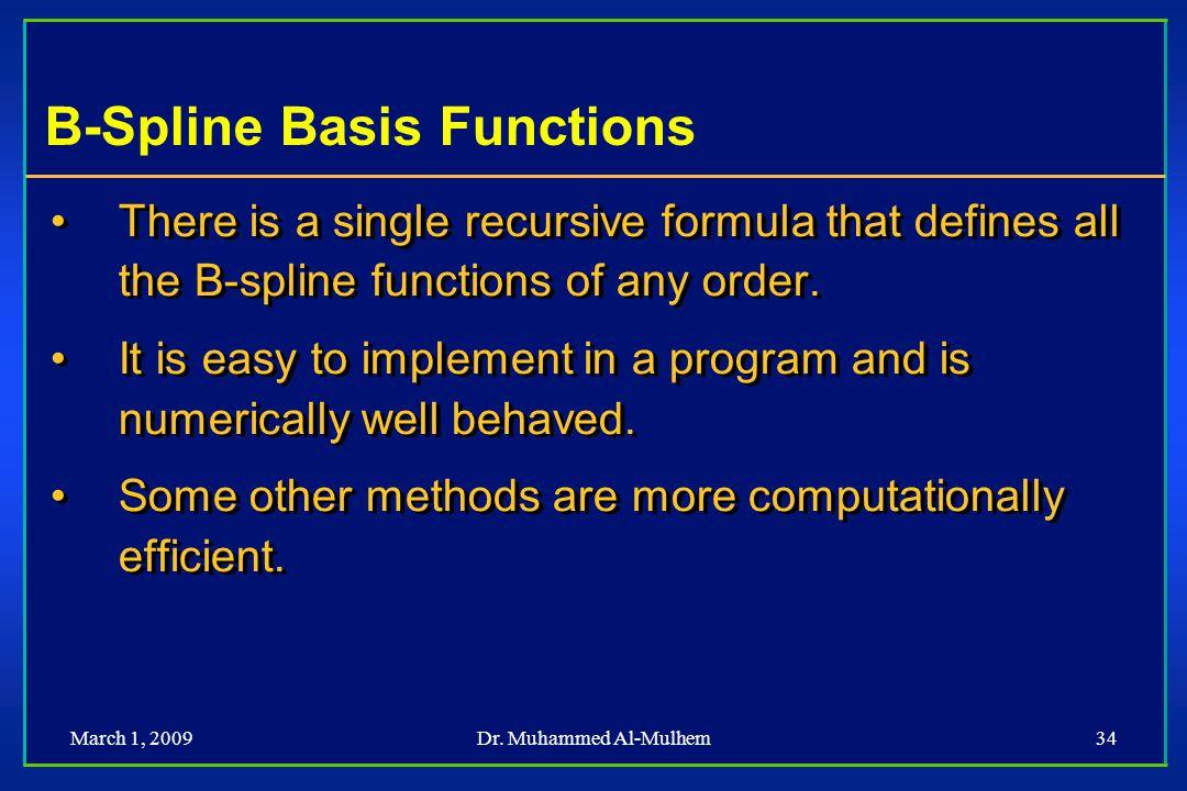 B-Spline Basis Functions