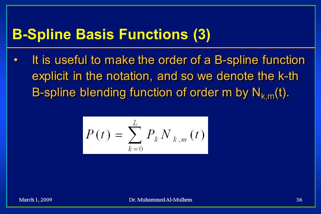B-Spline Basis Functions (3)