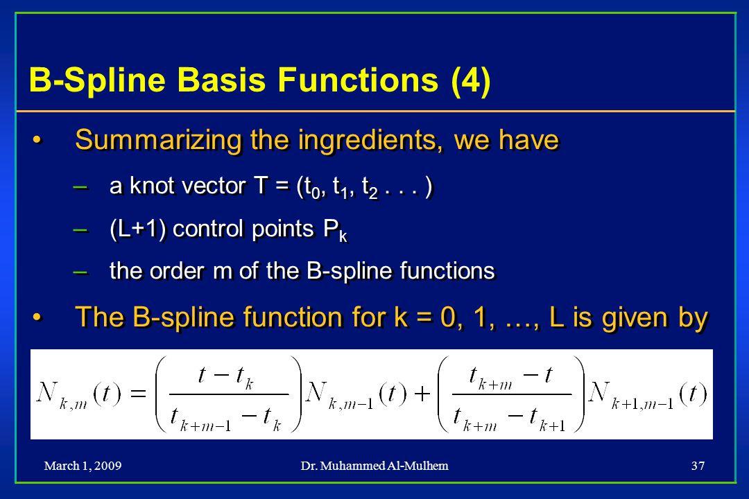 B-Spline Basis Functions (4)