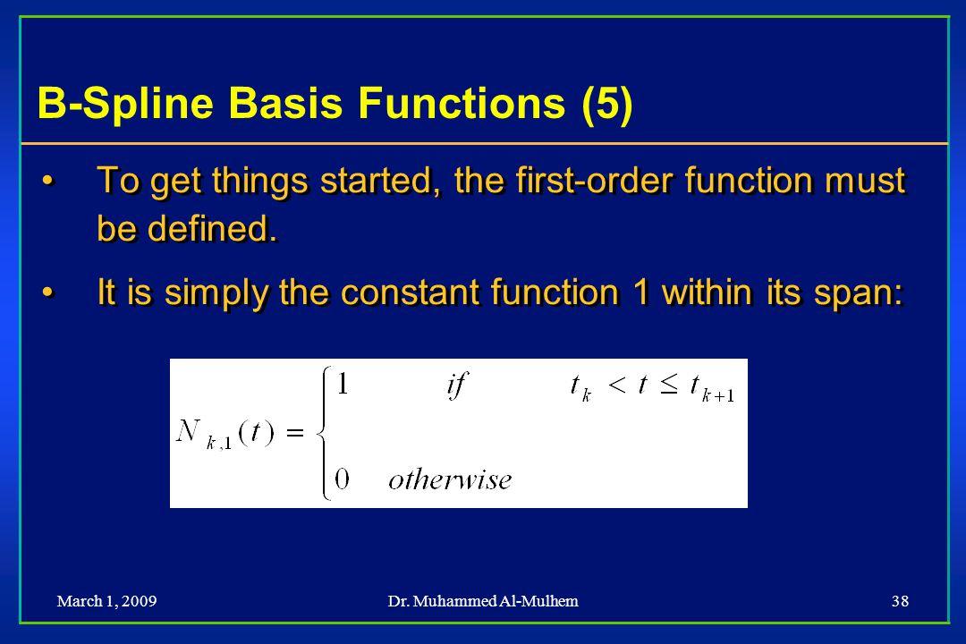 B-Spline Basis Functions (5)