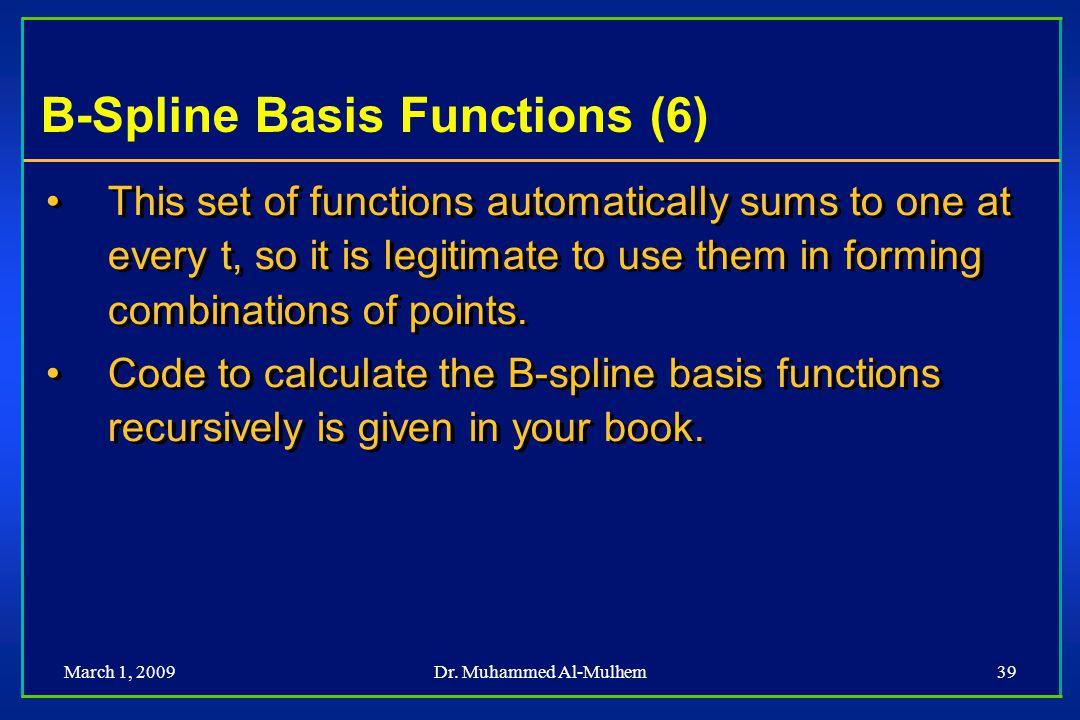 B-Spline Basis Functions (6)