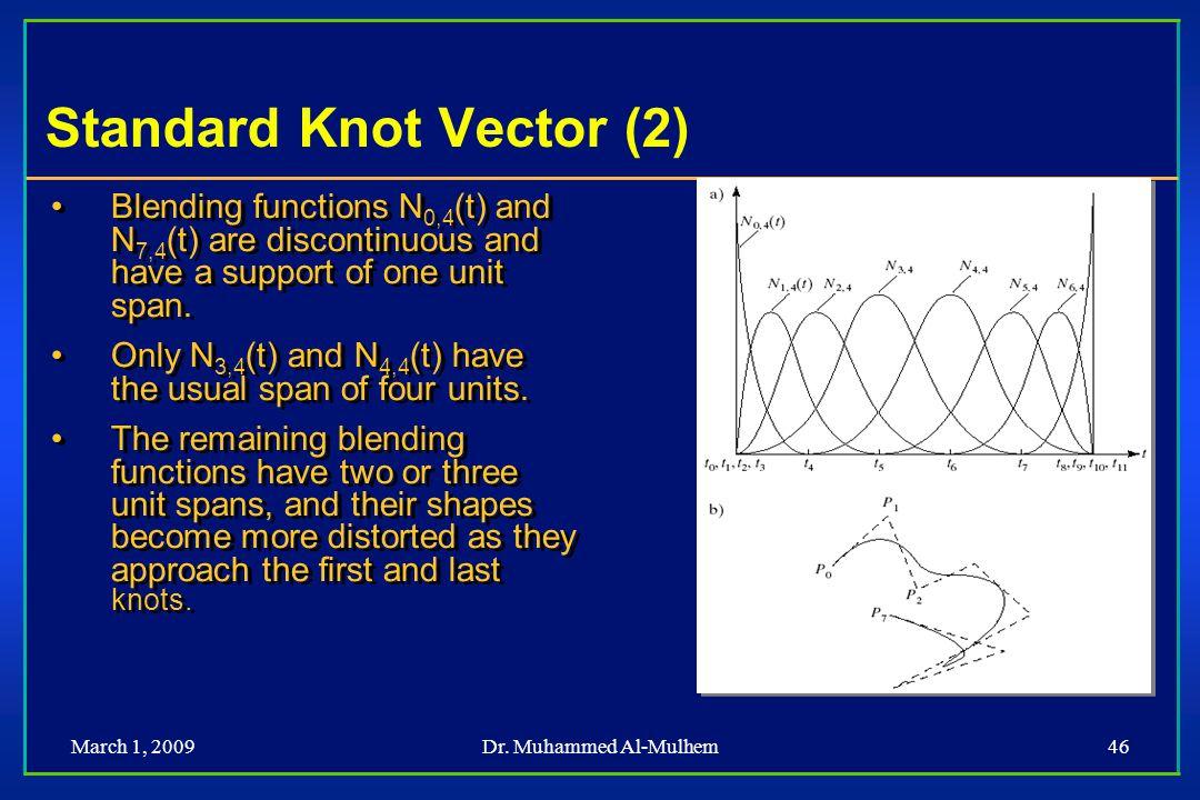 Standard Knot Vector (2)