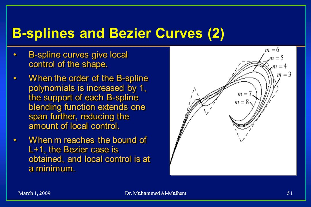 B-splines and Bezier Curves (2)