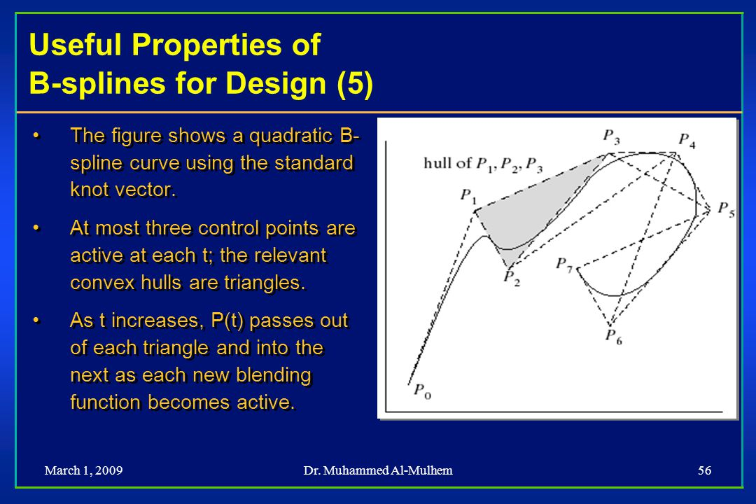 Useful Properties of B-splines for Design (5)