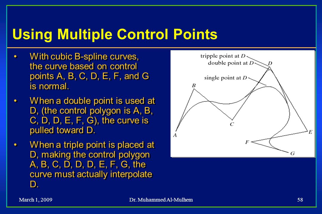 Using Multiple Control Points